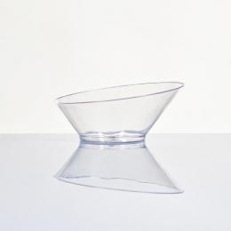 Copa desechable de plástico diseño BAJO presentación degustaciones aperitivos para fiestas y eventos