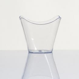 Vaso desechable diseño CAMPANA vasito de plástico para postres presentaciones catering y hostelería para fiestas