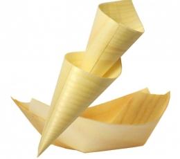 Platos bambú desechables para exitosas presentaciones de alimentos fiestas y eventos