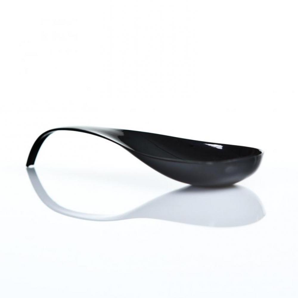 Elegante cuchara para degustacion alimentos en catering y hosteleria color negro