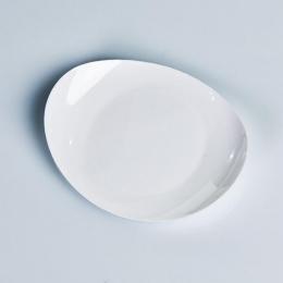 Plato Llano presentación aperitivos y postres serie ÁRTICA color blanco