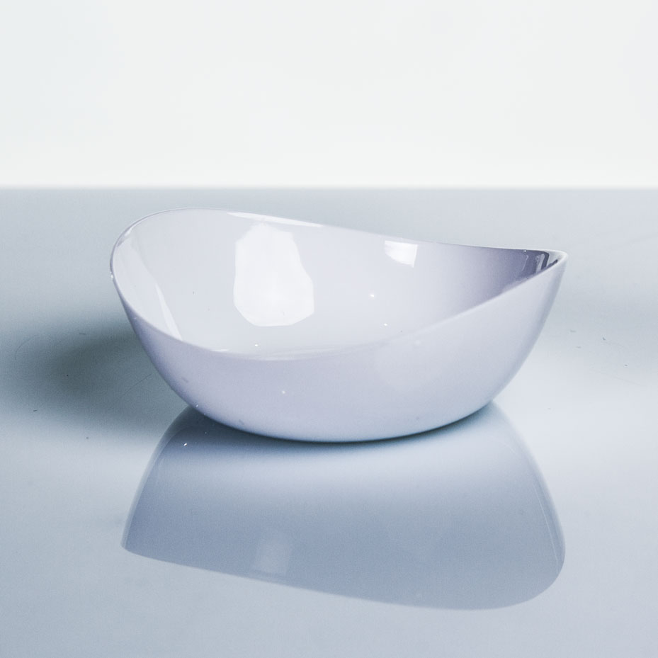 Plato Hondo presentación alimentos serie ÁRTICA color blanco