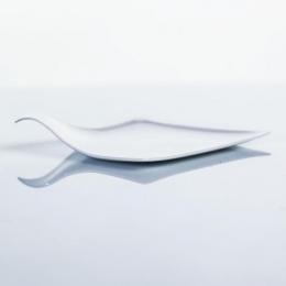 Plato cuadrado presentación aperitivos y platos serie ÁRTICA ELEGANCE color blanco