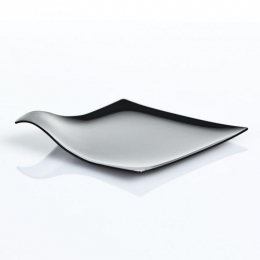 Plato cuadrado presentación aperitivos y platos en catering y hostelería serie ÁRTICA ELEGANCE color negro