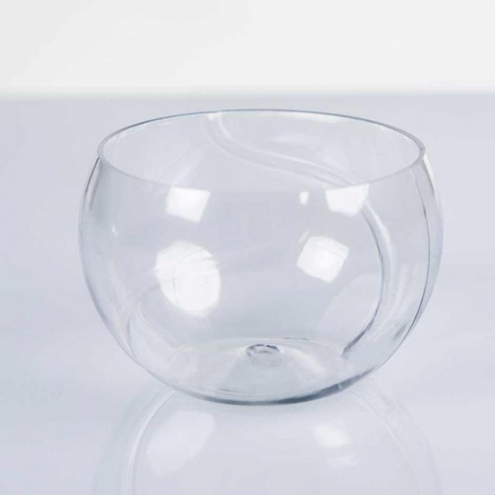 Recipiente en forma de esfera modelo TENIS BALL GLASSIC presentación de aperitivos varios