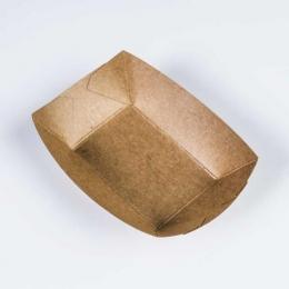 Barqueta KRAFT ANTIGRASA marrón presentación aperitivos calientes o fritos eventos y fiestas catering