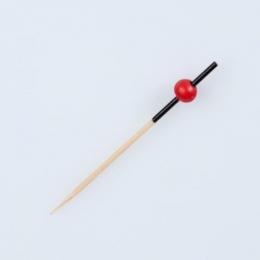 Pincho FANTASY - Palitos de bambu bola roja decoracion pinchos brochetas aperitivos y entrantes en catering y hostelería