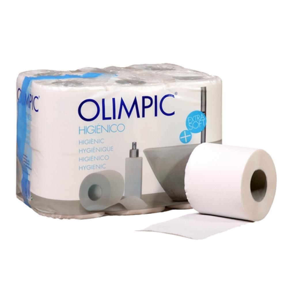 Papel higiénico OLIMPIC rollo 2 capas 14 Peso 47 grs/rollo (Paquete 108 unidades)