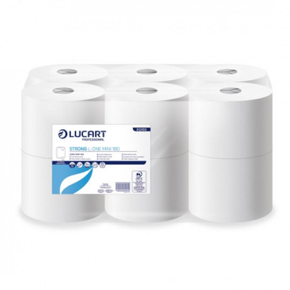 Papel higiénico STRONG L ONE Extraccion Central 2 capas 180 metros (Paquete 12 unidades)