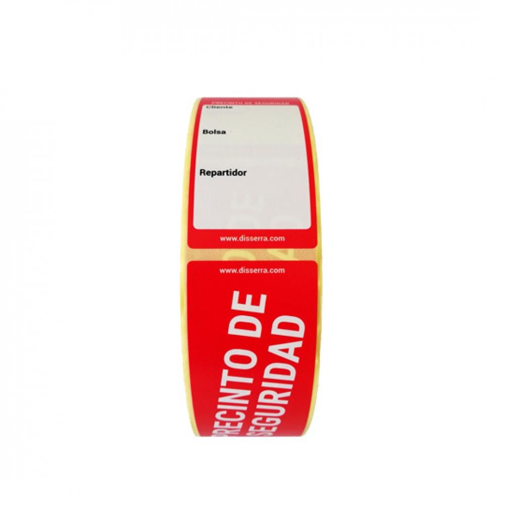 Etiqueta Adhesiva PRECINTO DE SEGURIDAD Take Away 3,5x15 cm (Rollo 500 unidades)