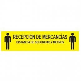 Etiqueta Adhesiva RECEPCION DE MERCANCIAS Amarilla...