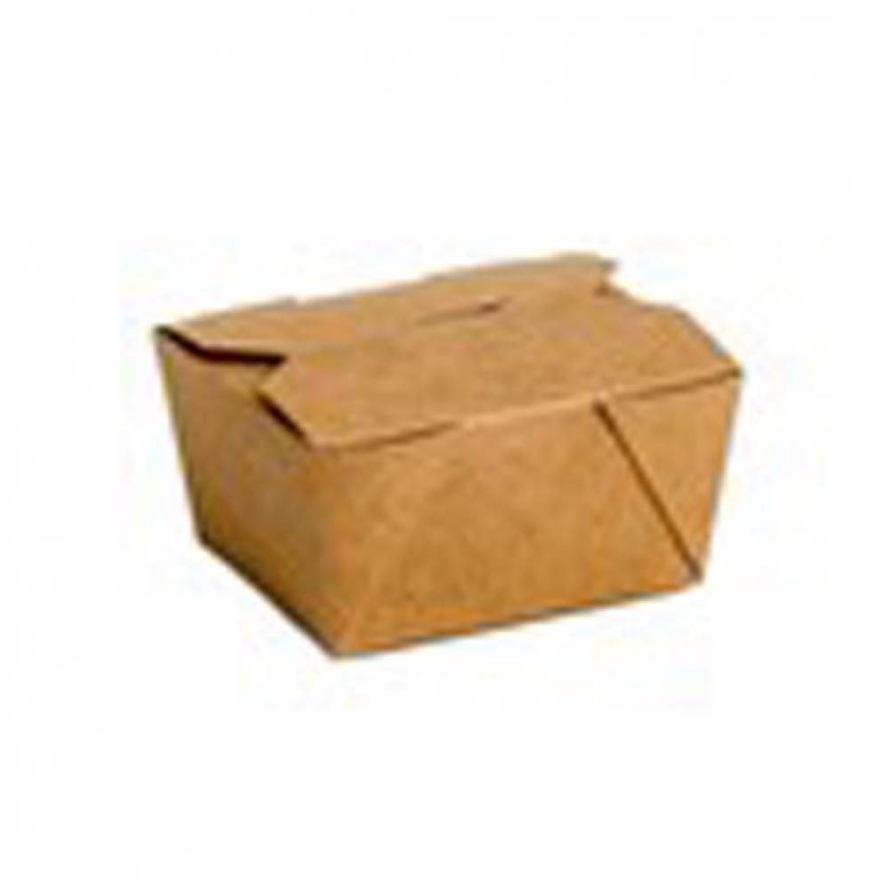 Caja KRAFT TAKEAWAY 130X105X65 mm 887 cc (Paquete 50 unidades)