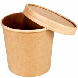 Bol KRAFT Sopa con Tapa 16oz 500 ml (Caja 25...