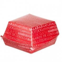 Caja cartón Hamburguesa en XL 13,5x12x7 cm (Caja...