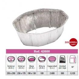 Envase aluminio POLLO OVALADO 250x200x100 (Ristra...