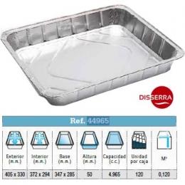Envase aluminio HORNO 405x330x50 mm (Paquete 40...