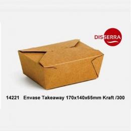 Caja KRAFT TAKEAWAY 170x140x65mm 1000 ml (Ristra...