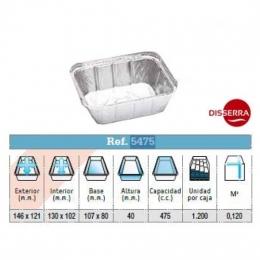 Envase aluminio 146x121x40 mm (Ristra 100...