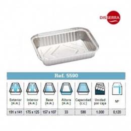 Envase aluminio191x141x33 (Ristra 100 unidades)