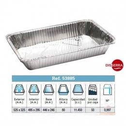 Envase aluminio TERNASCO 525x325x80 cm. (unidad...