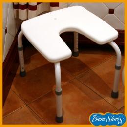 silla para baño y ducha de minusválidos, discapacitados herradura