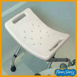 silla para baño y ducha de minusválidos, discapacitados, banqueta plegable con asas