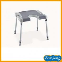 silla para baño y ducha de minusválidos, discapacitados, banqueta herradura, invacare