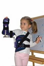 Ortesis pasiva para parálisis del plexo braquial, obstétrica o infantil, prefabricada.