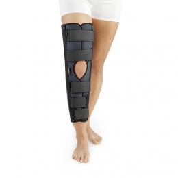 Ortesis pasiva para la inmovilización de rodilla sin articulación.