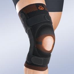 Ortesis para la articulación de rodilla, con sistema de estabilización y rodete rotuliano de...