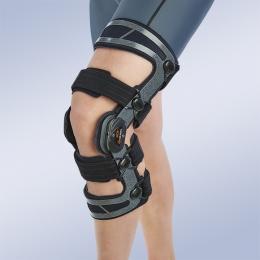 Ortesis para el control mediolateral y de flexo- extensión de la rodilla (ligamento cruzado anterior...