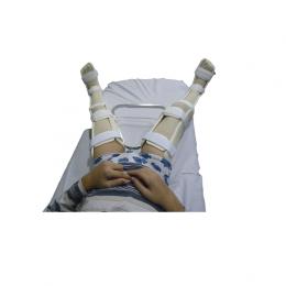Ortesis de abducción de tobillo a muslo con pletina graduable, A MEDIDA