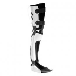 Ortesis para extensión de rodilla mediante valva posterior de muslo, pierna y pie, con dispositivo...