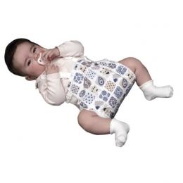Ortesis para mantener caderas en abducción (tipo Frejka o similar).