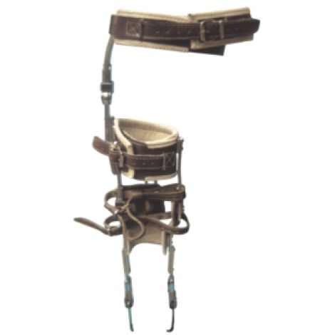 Bitutor femoral metálico con cinturón pélvico, A MEDIDA(unidad) (Prescribir además articulación de cadera, articulación rodilla y articulación de tobillo a elección y, si lo precisa, un botín).