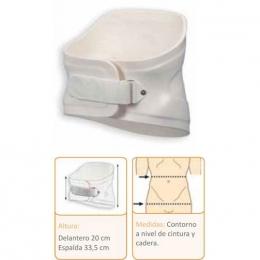 Ortesis lumbo-sacra rígida en termoplástico, a medida.