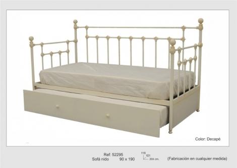 Sofa cama nido forja rustika decoraci n madrid for Cama nido de 3 camas