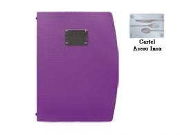 CARTA MENU MORADA A4 25X34 CM