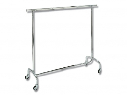 CARRO PERCHERO 152X51X151 CM INOX
