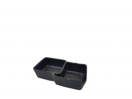 BLACK&WHITE-BOL DOBLE 14 X 9 X 4 MELAMINA NEGRA