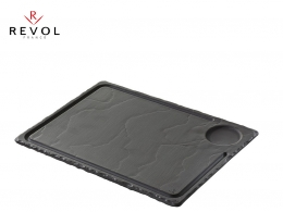 BASALT-PLATO STEAK PIZARRA 33X24 PORCELANA