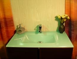 Lavabo de cristal Blanco