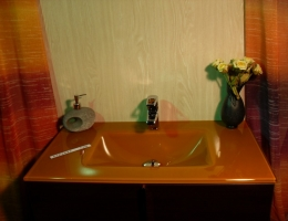 Lavabo de cristal Naranja Fuerte