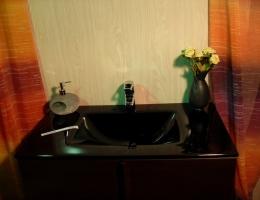 Lavabo de cristal Negro