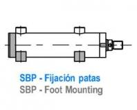 CILINDRO ISO 3320 - FIJACION POR PATAS - SBP
