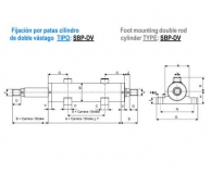ISO 3320 DOBLE VASTAGO - FIJACION POR PATAS - SBP/DV