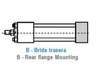 CILINDRO HIDRAULICO ISO 6020 2 BRIDA TRASERA - B