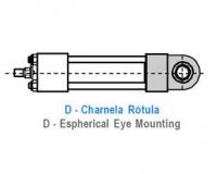 CILINDRO HIDRAULICO ISO 6020 2 CHARNELA ROTULA D