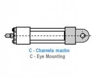 CILINDRO HIDRAULICO ISO 6020 2 CHARNELA MACHO C