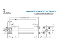 CILINDRO HIDRAULICO ISO 6020 2 TIRANTES PROLONGADOS DELANTEROS  R